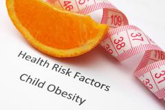 Health risk factors - child obesity Stock Illustration