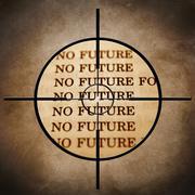 No future target Stock Illustration