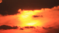 Glowing orange sky sunset Stock Footage