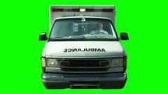 Ambulance Greenscreen Stock Footage