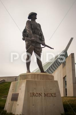 Stock photo of military iron statue