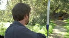 Archery Practice - stock footage