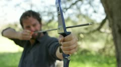 Archery Front Focus - stock footage