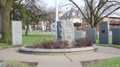 Jackson, Michigan War Memorial, West Michigan Avenue, Jackson.mp4 Stock Footage