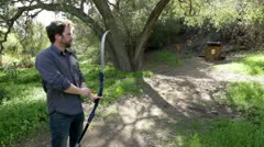 Archery Practice Wide - stock footage