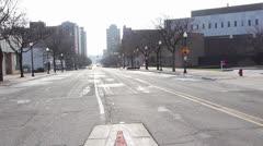 Downtown # 1, W. Michigan Avenue, Jackson, MI.mp4 Stock Footage
