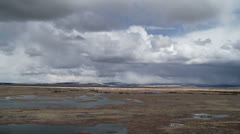 Wetlands, High Desert, Clouds Time Lapse Stock Footage