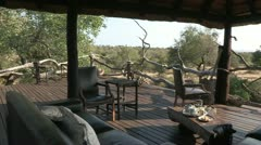 Viewing deck over bushveld Stock Footage