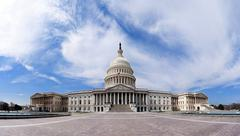 us capitol - government building - stock photo
