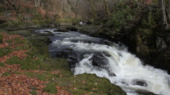 River Devon near Rumbling Bridge Scotland Stock Footage