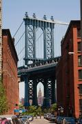 manhattan bridge - stock photo