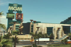 MGM Hotel/Casino Sign Stock Footage