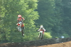 Motorcross action 01 Stock Footage