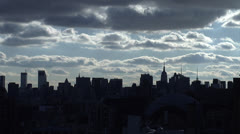 NYC skyline time-lapse - stock footage