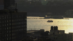 Hudson River ferry - stock footage