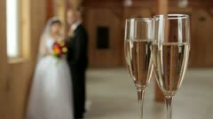 Wedding Champagne Focus Stock Footage