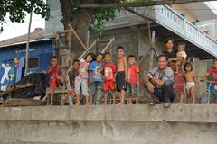 Friendly children at Bali Stock Photos