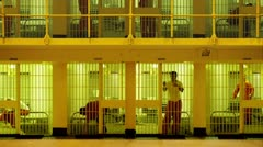 Cell Block - stock footage