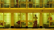 Stock Video Footage of Cell Block