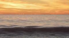 Los Angeles Surf at Dusk - stock footage