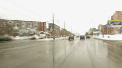 Movement of a motor transport, cars in the city Stock Footage