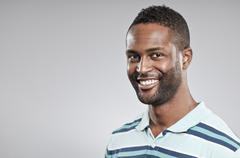 african american man smiling portrait - stock photo