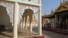 Shwezigon Pagoda Bagan Stock Footage