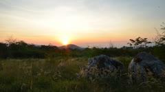 Sunrise landscape - stock footage
