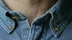 Collar Button Stock Footage