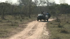 Game drive vehicle Stock Footage