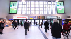 Central Railway Station Dusseldorf Germany Stock Footage