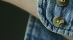 Cuff Buttons - stock footage