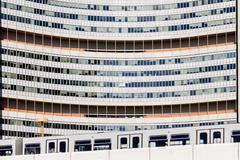 united nations building close up vienna - stock photo