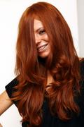 Young beautiful redhead woman Stock Photos