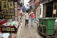 Stock Photo of pedestrian street in zhujiajiao