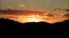 California Mountain Sunrise Stock Footage