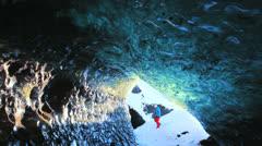 Ice Cave at Svinaffellsjokull glacier, Iceland  11 Stock Footage
