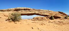 famous mesa arch - stock photo