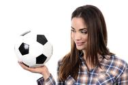 Stock Photo of beautiful woman with ball
