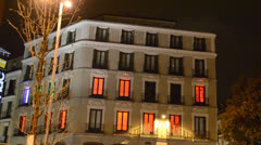 Hotel in the area of Madrid Stock Footage