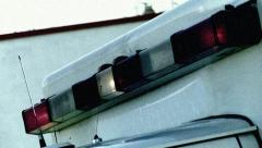 Ambulance Lightbar Grunge Stock Footage