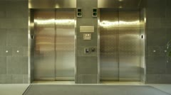 Empty Elevator Stock Footage