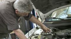 Car Engine Work MS Stock Footage