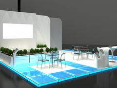 Exhibition Stand Interior / Exterior Sample - stock illustration