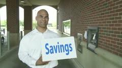 Evaporating Savings Stock Footage