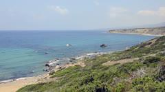 Coast of Akamas peninsula on Cyprus Stock Footage