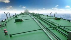 Oil tanker in a sea Stock Footage