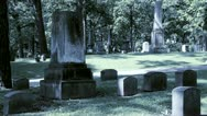 Stock Video Footage of Cemetary Walk