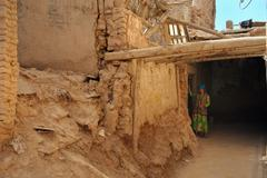 ruins in kashgar's old town - stock photo