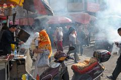 Stock Photo of Street market in Kashgar